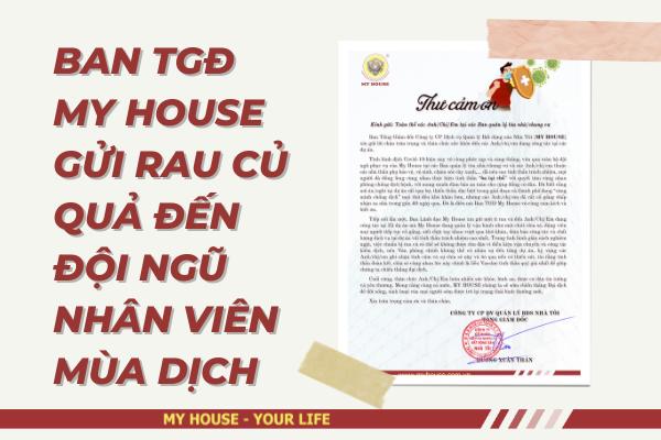 BAN TGĐ MY HOUSE GỬI RAU CỦ QUẢ ĐẾN CÁC ANH CHỊ EM NHÂN VIÊN MÙA DỊCH