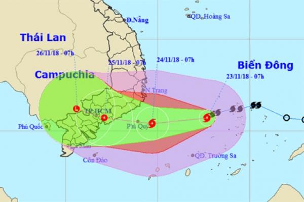 Lượng mưa kỷ lục đổ xuống Sài Gòn do bão Usagi