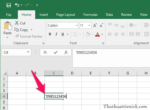 Cách viết thêm số 0 vào đầu, viết số điện thoại trong Excel mọi phiên bản.