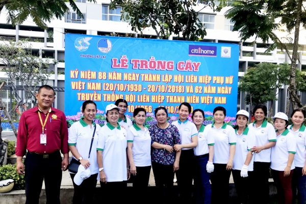 Lễ trồng cây nhân ngày Phụ nữ Việt Nam tại Cụm chung cư CITIHOME MY HOUSE