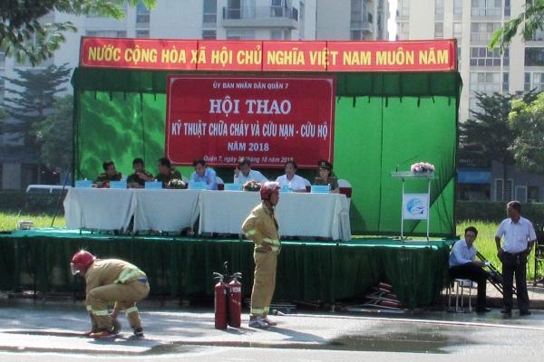 Chung cư Minh Thành MY HOUSE tham gia Hội thao kỹ thuật chữa cháy và cứu nạn, cứu hộ 2018