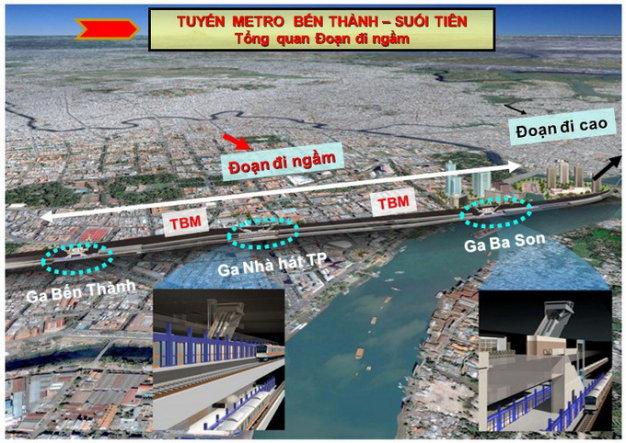 Tp.HCM: Đẩy nhanh tiến độ dự án metro Bến Thành Suối Tiên