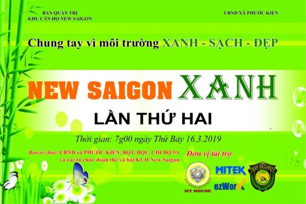 NEW SAIGON XANH Chung tay vì môi trường XANH SẠCH ĐẸP LẦN 2