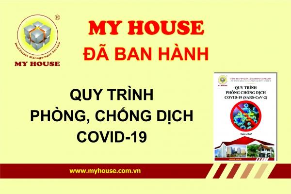 MY HOUSE đã ban hành Quy trình phòng, chống dịch Covid 19 SARS CoV2
